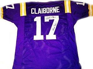 Morris Claiborne Autographed Jersey - LSU Purple - Autographed College Jerseys