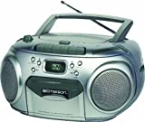 Emerson PD6548SL Portable Radio CD Player with Cassette Recorder