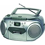 Emerson Portable Radio CD Player with Cassette Recorder (PD6548SL) ~ Emerson