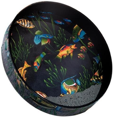 "Remo Ocean Drum, Fish Heads 2.5"" X 16"""