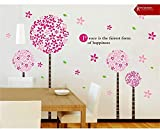 Asmi collection PVC Wall Stickers Wall Decals Pink Blossom Tree