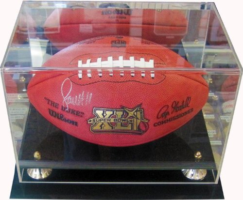 Larry Fitzgerald Signed Ball - Super Bowl XLI w Case - Autographed Footballs