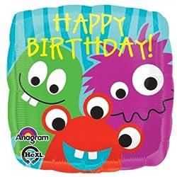 Anagram International Hx Monster of a Birthday Balloon, Multicolor by Anagram International