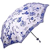 Paradise Love of Roses Foldable Umbrella, Anti-UV Sun Umbrella, Parasol Series & Colors Variesby Paradise