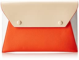BCBG Sophie Envelope Clutch, Vermillion Combo, One Size