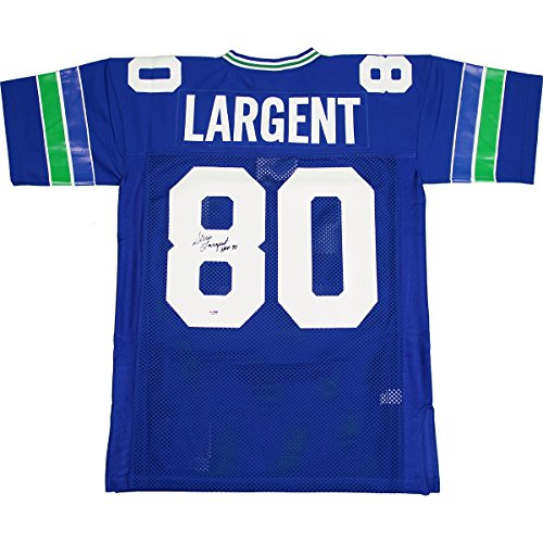 Steve-Largent-Autographed-Seattle-Seahawks-Throwback-Mitchell-and-Ness-Jersey-With-HOF-Hall-of-Fame-95insc-PSADNA-Authenticated