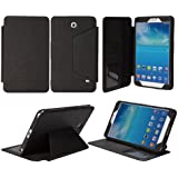 "Tab 4 7.0 Case - Bear Motion Premium Folio Case for 7 inch Samsung Galaxy Tab 4 7.0 - 7"" tablet (Tab 4 7.0, Black)"