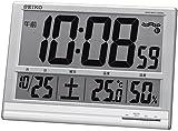 SEIKO CLOCK (セイコークロック) 掛け時計 置き時計 兼用 デジタル 電波時計 温度表示 湿度表示 大型時計 SQ418S