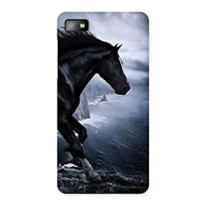 Impressive Premier Black Horse Back Case Cover for Blackberry Z10
