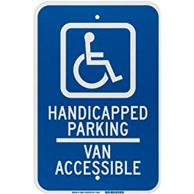 "Brady 90018 18"" X 12"" Aluminum Parking-Van Accessible"