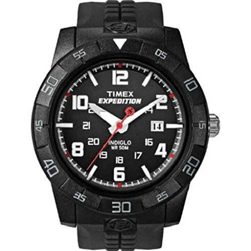 timex men s t49831 expedition rugged analog black resin strap watch