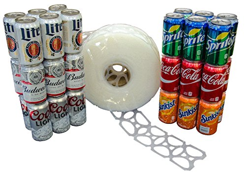 1000 Count Roll 6-Pack Rings Universal Fit - Fits all 12oz Beer Soda Cans (Soda 6 Pack compare prices)
