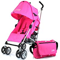 ZETA VOOOM - RASPBERRY + CHANGING BAG (Includes Changing Mat) + Complete With Raincover From Birth by Baby Travel