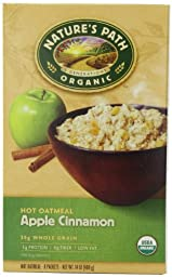 Nature\'s Path Organic Instant Hot Cereal, Apple Cinnamon, 8-Count Boxes (Pack of 6)