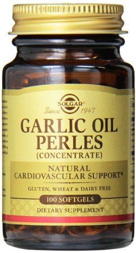 Solgar Garlic Oil Perles Supplement With Reduced Odor, 100 Count
