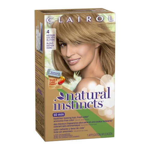 Clairol Natural Instincts Haircolor Sunflower Medium Golden Blonde 04  Dark