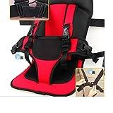 英国版 多機能 車の座席ストラップスタイルチャイルドシート 通気性メッシュ素材  ( 2-6歳対象)持ち運びに便利 軽量&省スペース設計:赤