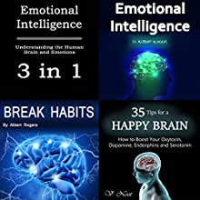 Emotional Intelligence: Understanding the Human Brain and Emotions, 3 in 1 Audiobook by Albert Rogers, V. Noot Narrated by Nina Price