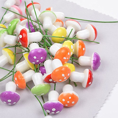 adecco-llc-pack-of-50pcs-2cm-mini-artificial-mushroom-for-flower-pots-plant-boxes-containters-plante