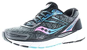 Saucony Women's Breakthru Running Shoe, Grey/Pink/Blue, 7.5 M US