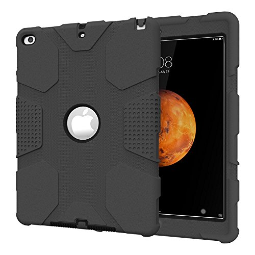 iPad Air 2 Case, Hocase Rugged Heavy Duty Shockproof Hard Case Cover for 9.7 inch iPad Air 2 6th Generation - Black (Ipad Air 32gb compare prices)