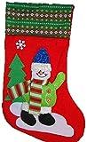超特大 かわいい クリスマス ソックス サンタクロース 靴下 ミニマット付 (スノーマン, フリー)