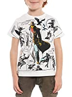 M C S Camiseta Manga Corta Cartoon Print (Nata)