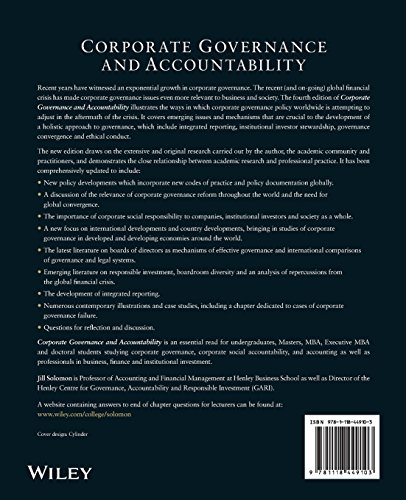 corporate governance and accountability Governance in education: transparency and accountability jacques hallak and muriel poisson (eds.