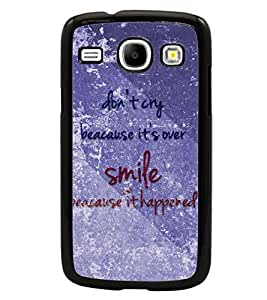 PrintDhaba Quote D-3858 Back Case Cover for SAMSUNG GALAXY CORE i8262 (Multi-Coloured)
