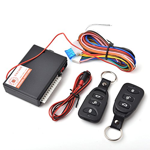CISNO Universal Car Door Lock Locking Vehicle Keyless Entry System Remote Central Kit with 2 Remote Controllers (Remote Unlock Door compare prices)