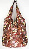 Trendy Sturdy Shopping Tote Bag - Dots and Circles Pattern