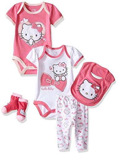 Hello Kitty Baby Girls' Baby Gift Set, Pink Carnation, 0-3 Months