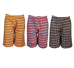 Spictex Boys' Cotton Shorts (Pack Of 3) (SPIC-CT142-PC3-10_Multicolor_6 Years - 7 Years)