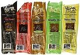 Primal Strips Meatless Vegan Jerky-Variety Gift Pack Sampler; 12 Assorted 1 Ounce Strips