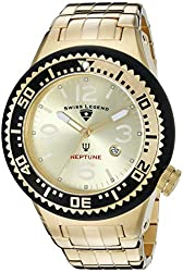Swiss Legend Men's 21819P-YG-10 Neptune Force Analog Display Swiss Quartz Gold Watch