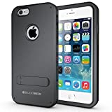 iPhone 6S Case, BUDDIBOX [Shield] Slim Dual Layer Protective Case with Kickstand for Apple iPhone 6 and 6s, (Black)