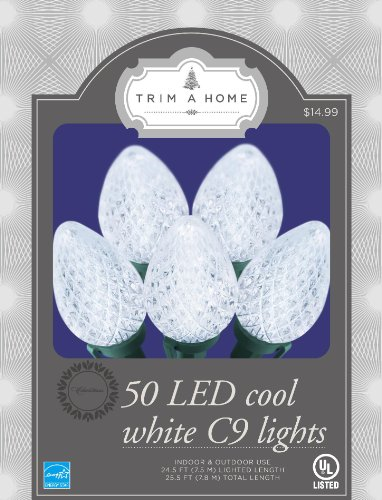 Trim A Home® 50 C9 Led Light Set - Cool White Energy Star®