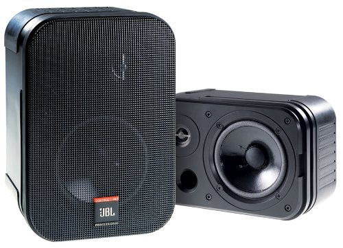 Jbl Control 1 Pro Loudspeaker Two Way 50 Watt 5.25 Inch Driver With .75 Inch Tweeter Spring-Loaded Terminals Black- Priced And Sold As A Pair