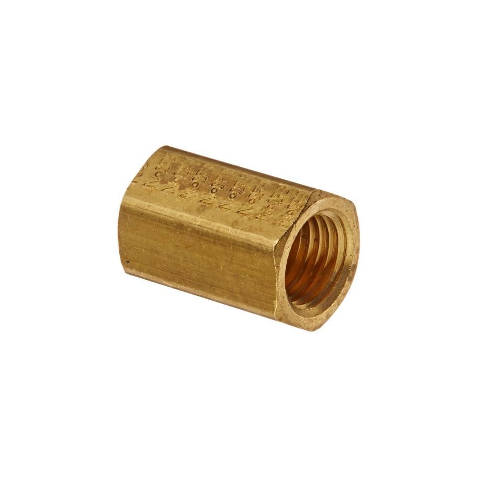 Eaton Weatherhead 302X2 Brass CA360 Inverted Flare Brass Fitting, Union, 1/8 Tube OD