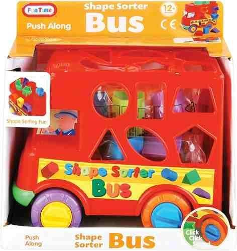 Baby Push Along Shape sorter Bus - Shape Sorting Fun! 12 Months + - 1