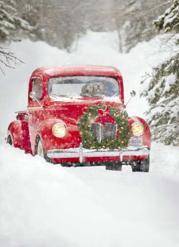 Old Fashioned Truck Christmas Cards