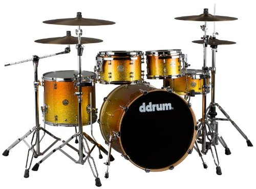 ddrum Dios M Series 5 Piece Drum Shell Pack- Yellow Gold Fade