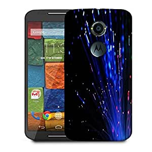 Snoogg Fiber Optics Designer Protective Phone Back Case Cover For Moto X 2nd Generation