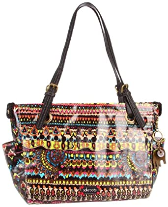 The SAK Top Zip 1000037650 Satchel,Neon One World,One Size