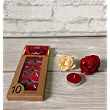 Devinez Scented Rose Smokeless Tealight Candle, (Pack Of 10), 4.5 Hour Buring, Gift Set