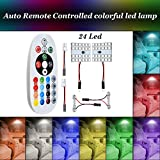 12V Demo Car Lights Bulb Remote Controlled Car Interior Lights by eTzone, Multicolored, 5050W SMD Led Lights (24-Led)