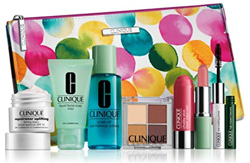 new-2015-clinique-8-pcs-makeup-skincare-gift-set-with-repairwear-uplifting-firming-cream-more-85-val