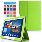 MoKo Samsung Galaxy Tab 3 10.1 Case - Slim Folding Case for Samsung Galaxy Tab 3 10.1 Inch Android Tablet, GREEN (with Smart Cover Auto Wake / Sleep)