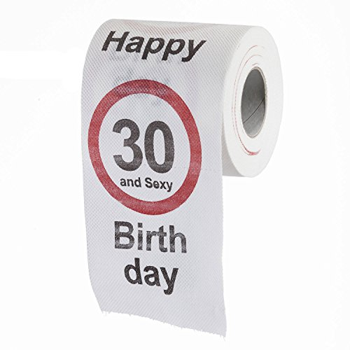 lustiges fun klopapier zum 30 geburtstag toilettenpapier. Black Bedroom Furniture Sets. Home Design Ideas
