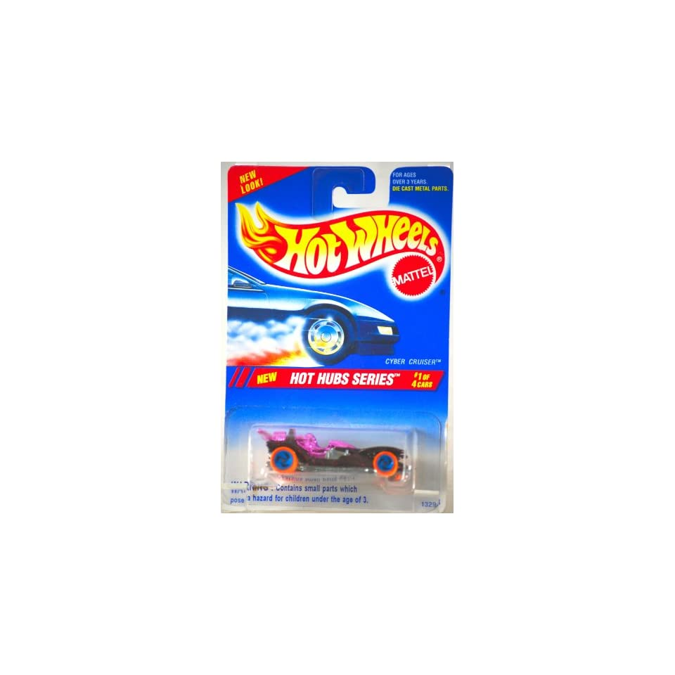 1994   Mattel   Hot Wheels   Hot Hubs Series   Cyber Cruiser   Metallic Red / Purple   #1 of 4 Cars   164 Scale Die Cast   Collector #307   MOC   Out of Production   Limited Edition   Collectible